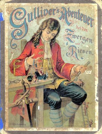 """Д.Свифт.""""Путешествия Гулливера:Иллюстрации Карла Оффтердингера.1890 г. и Иллюстрации Мортена 1904 г."""