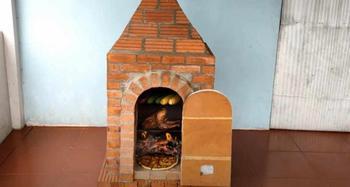Кирпичная печь-духовка своими руками