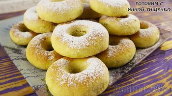 Творожные пончики в духовке!