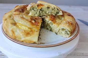 Вертута с сыром и зеленью