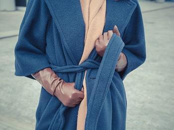 С чем носить модное пальто-халат?