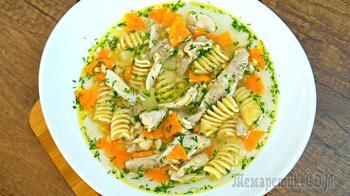 Потрясающе вкусный куриный суп - всем точно понравится! Простой рецепт на обед!
