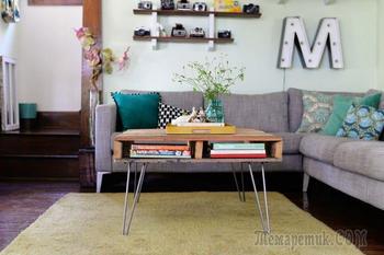 Как сделать журнальный стол из поддонов своими руками?