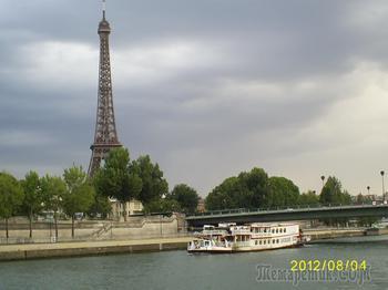 Франция - прекрасная лилия в букете европейских государств. Часть 4. Париж - прогулка на кораблике по Сене