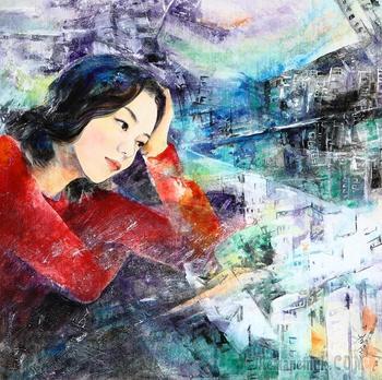 Корейская живопись. Ким Мён Сук - Kim Myeong Suk (김명숙). Республика Корея
