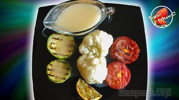 Цветная капуста и кабачки с соусом рецепт 1861 года