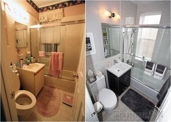 Потрясающие превращения 19 ванных комнат: фото до и после