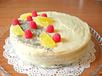 Домашний торт на День рождения, совсем несложный и очень вкусный!