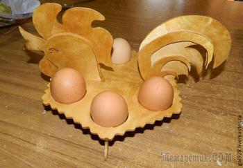 Делаем пасхального петушка (держатель для яиц)