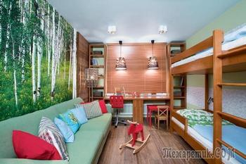 Переделка гостиной в детскую «экокомнату»