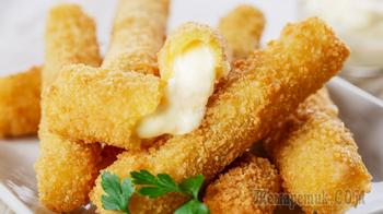 Хрустящие сырные палочки - бесконечно тянущийся жареный сыр фри в домашних условиях