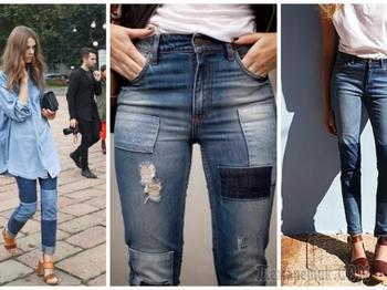 Как красиво сделать заплатку на джинсах: интересные идеи