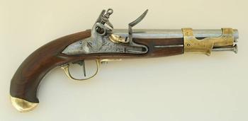Французский кавалерийский кремневый пистолет An 9