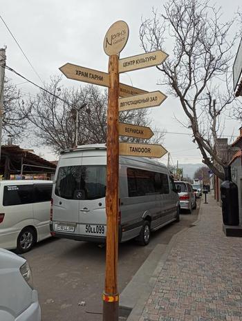 Языческий храм Гарни. Армения. Январь