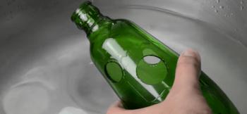 Оригинальный способ декора бутылки