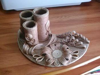Поделки из джута — варианты изготовления изделий из волокна