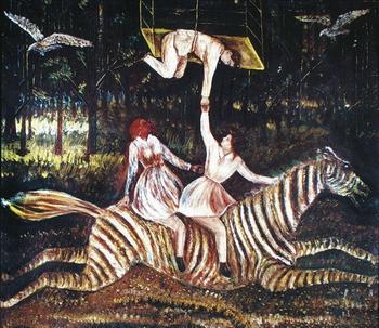 Яркие образы на картинах наивного художника-самородока Павла Леонова, который рисовал всю жизнь, а известен стал в 70 лет