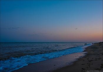 Фотозарисовка.  Уставшее море