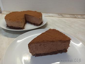 Нежный шоколадный чизкейк без выпечки