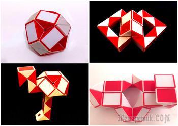 Интересные поделки из змейки Рубика