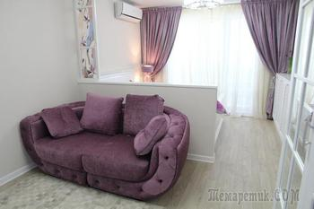 Как обустроить в однушке спальню и гостиную: реальный пример в Воронеже