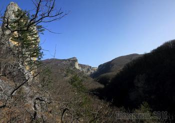 Крым. Февраль. Соколиное - Большой Каньон - водопад Серебряный Струи - Соколиное