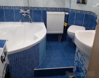 Синяя ванна: дизайн, сочетание цветов