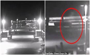 Во время урагана в США на камеру попал призрак, о котором ходят легенды