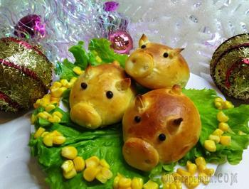 Гламурные свинки булочки символ года желтой свиньи