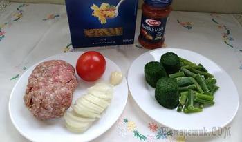 Летняя паста с овощами для взрослых и детей
