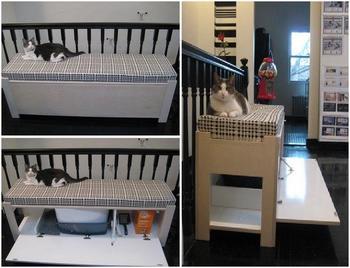 Куда спрятать кошачий туалет