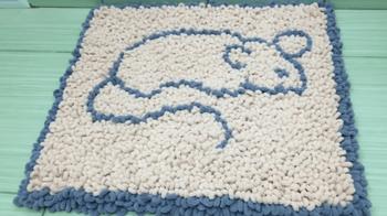 Пушистый коврик без вязания