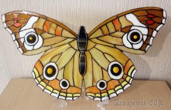 Изготовление бабочки в технике Тиффани
