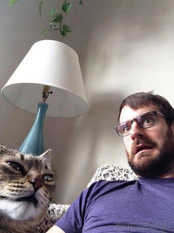 24 смешных фото, на которых питомцы очень похожи на своих хозяев
