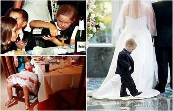 17 уморительных фотографий, доказывающих, что дети не переносят свадьбы