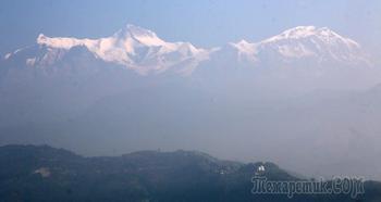 Непал. Гималаи. Трек вокруг Аннапурны. 17. Покхара - Катманду. Непал из окна автобуса