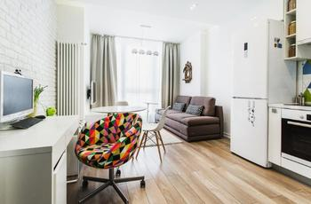 Функциональное пространство в однокомнатной квартире