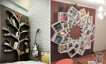 13 вариантов оформления книжных полок, которые станут настоящим украшением интерьера