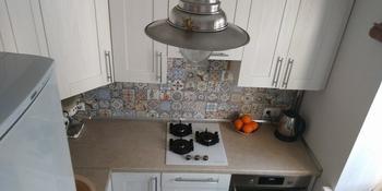 «Вытерпела все лишения ремонта ради плитки». «Средиземноморская» кухня