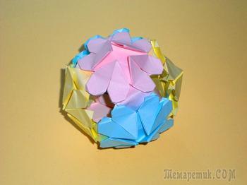 Оригами Шар Любви из бумаги. Подарок на День святого Валентина