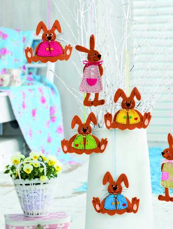 Декор для детской своими руками: зайчики из фетра