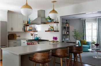 Кухня, совмещенная с гостиной – нюансы оформления 2017
