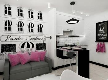 Квартира-студия 21.9 кв.м. для молодой девушки
