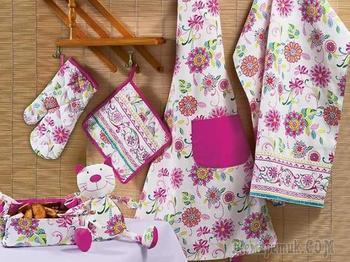 Как сшить красивое кухонное полотенце своими руками в подарок для начинающих