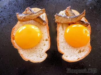 Батон, шпроты, яйца вкусный завтрак за 3 минуты!