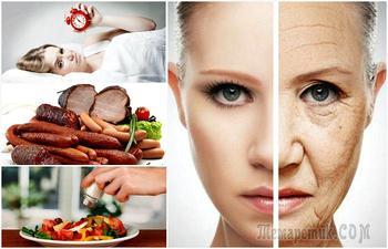 Продукты и привычки, которые вредят внешнему виду и ведут к старению
