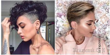 Идеальные женские стрижки с выбритыми висками, актуальные в 2019 году