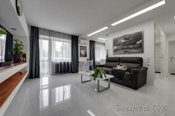 Современный дизайн двухкомнатной квартиры 45 кв. м