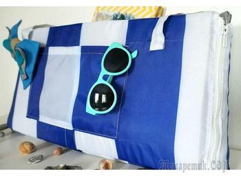 Нужная вещь для пляжа: шьем сумку-коврик