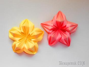 Объемные цветы из бумаги Поделки оригами на 8 марта